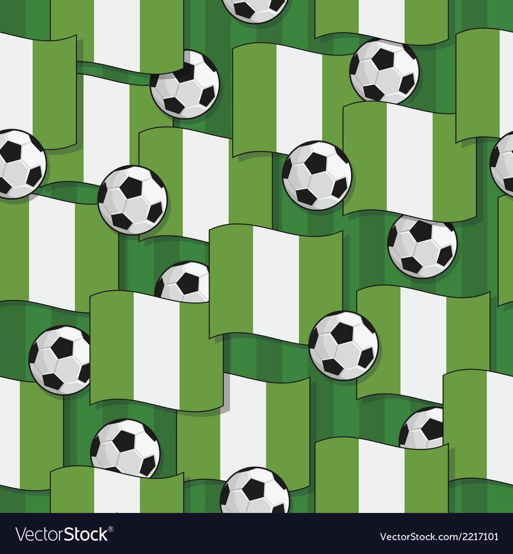 Nigeria football pattern vector | Price: 1 Credit (USD $1)