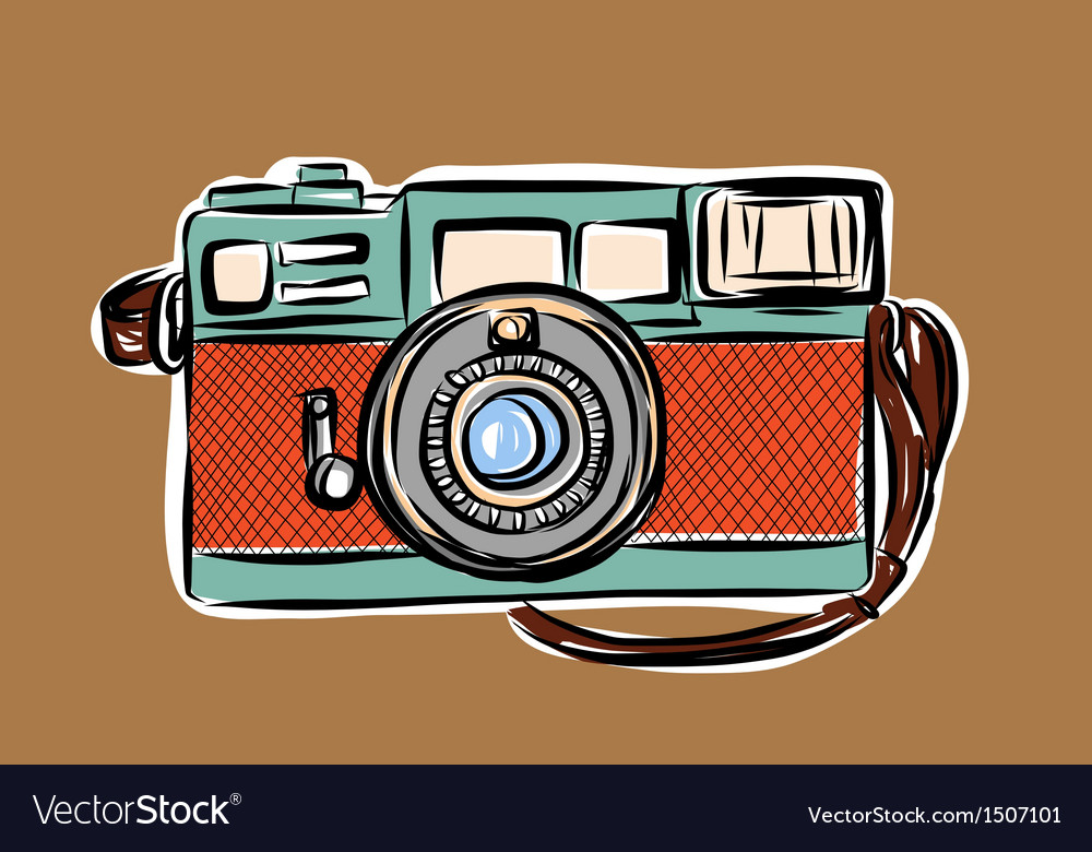 Rangefinder camera sketchbook vector | Price: 3 Credit (USD $3)