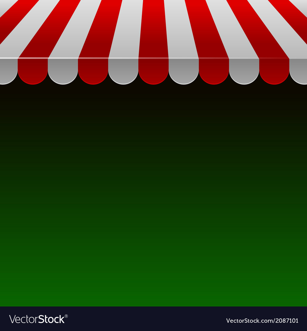 Red and white strip shop awning with space for vector | Price: 1 Credit (USD $1)