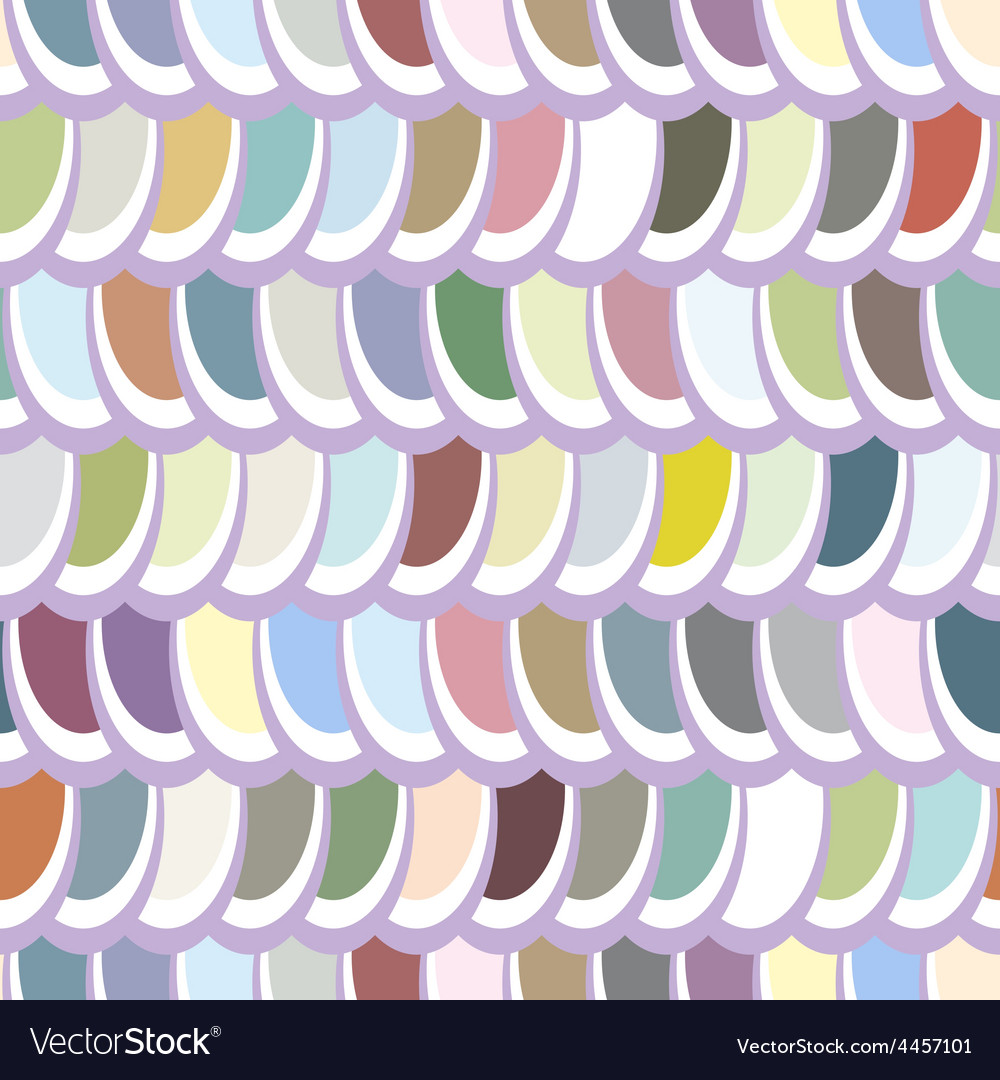 Seamless multicolor elliptical pattern vector | Price: 1 Credit (USD $1)