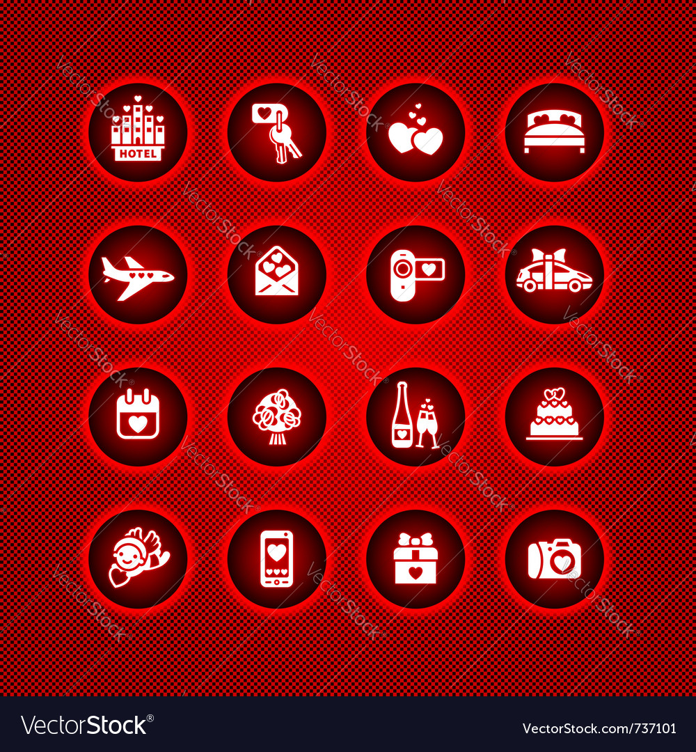 Set valentines day icons romantic travel vector | Price: 1 Credit (USD $1)
