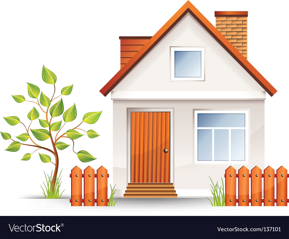 Small house vector | Price: 1 Credit (USD $1)