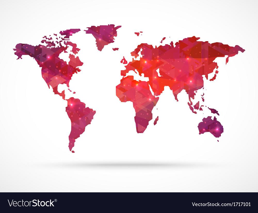 Sparkle diamond world map vector   Price: 1 Credit (USD $1)