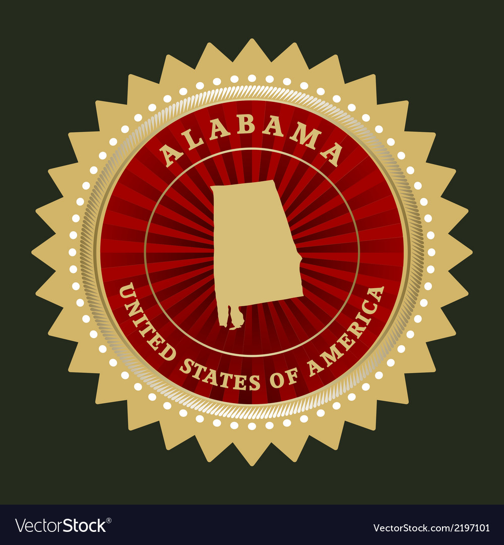 Star label alabama vector | Price: 1 Credit (USD $1)