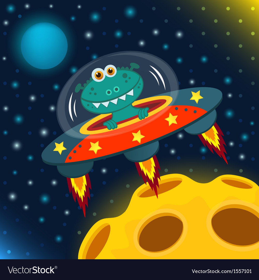 Ufo alien vector | Price: 3 Credit (USD $3)