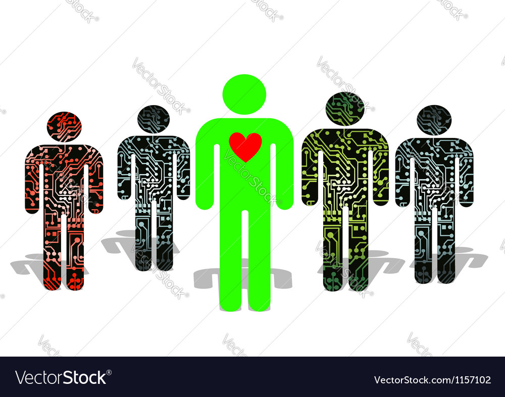 Artificial people vector | Price: 1 Credit (USD $1)