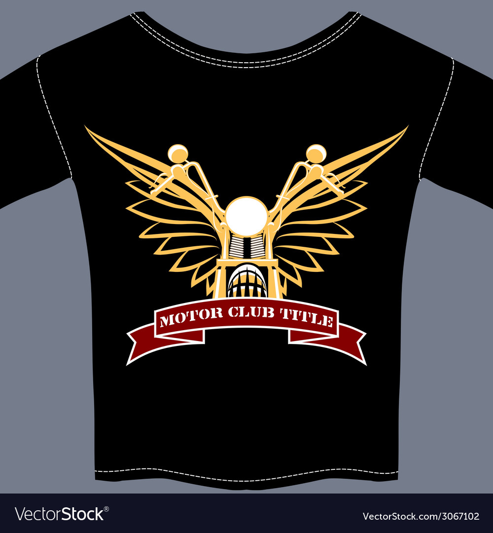 Biker tee shirt vector | Price: 1 Credit (USD $1)