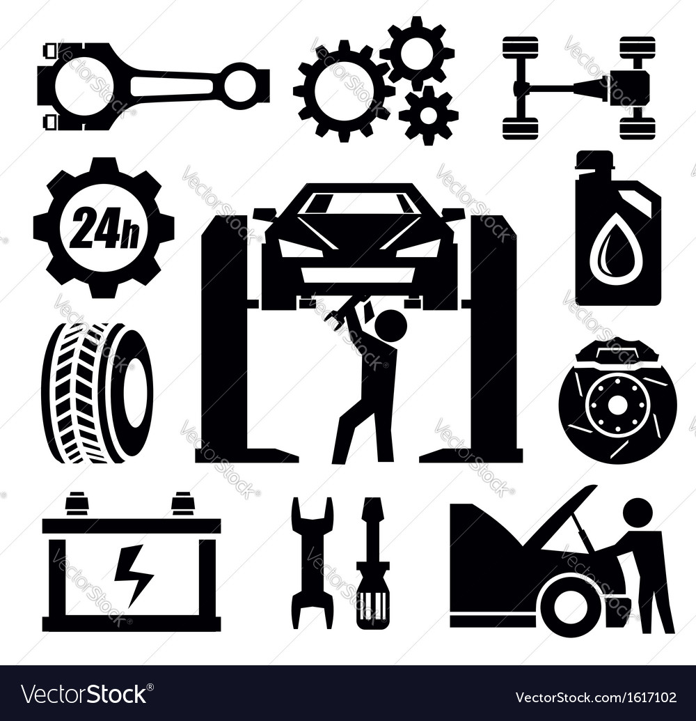 Car repair icon vector | Price: 1 Credit (USD $1)