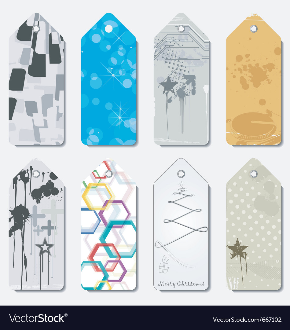 Gift tag set vector | Price: 1 Credit (USD $1)