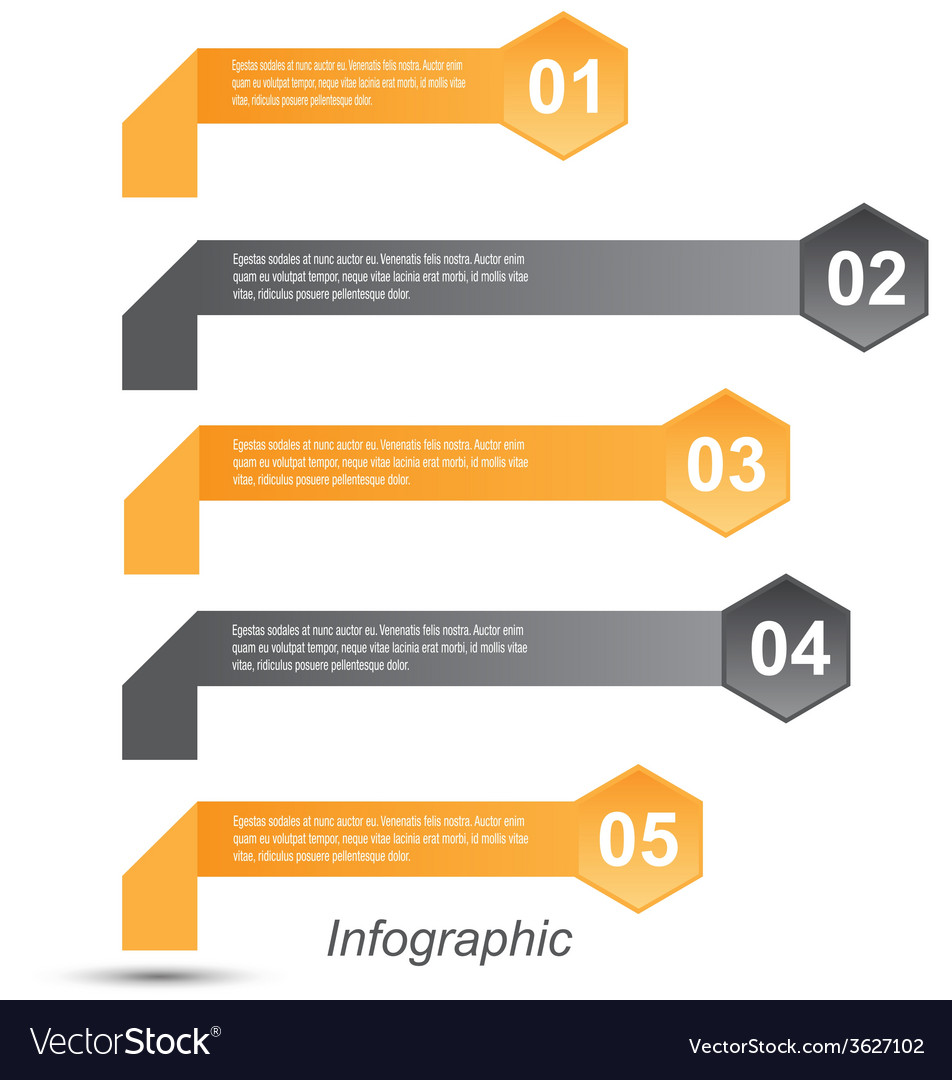 Infographic design template vector | Price: 1 Credit (USD $1)