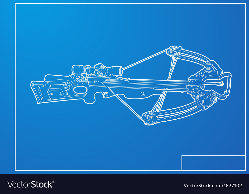 Outline crossbow vector | Price: 1 Credit (USD $1)