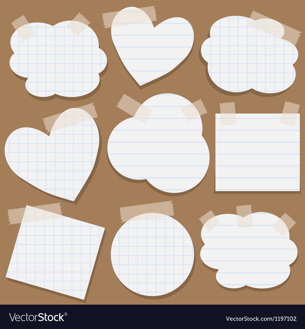Paper stickers with scotch tape vector | Price: 1 Credit (USD $1)
