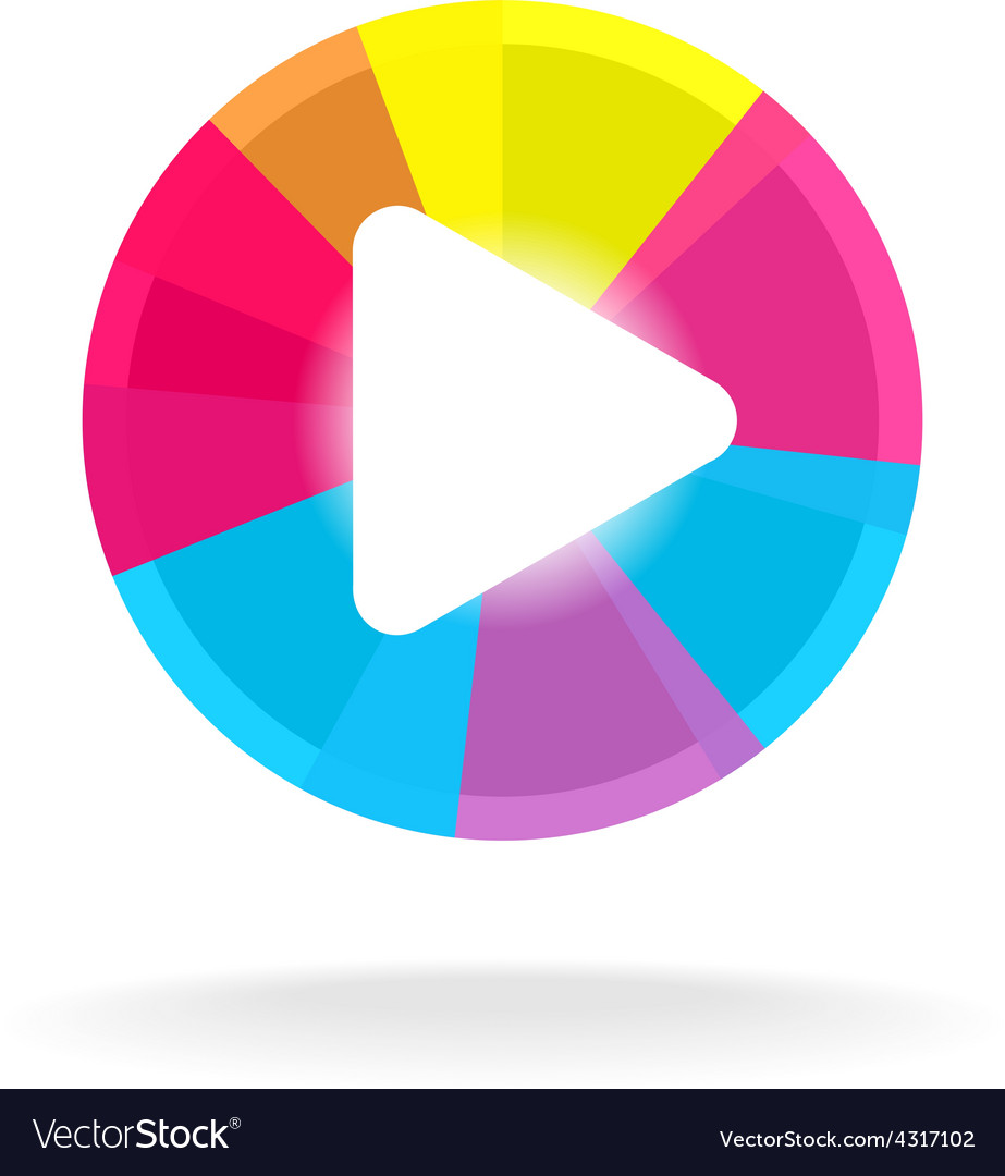 Play button symbol colorful bright design easy vector | Price: 1 Credit (USD $1)