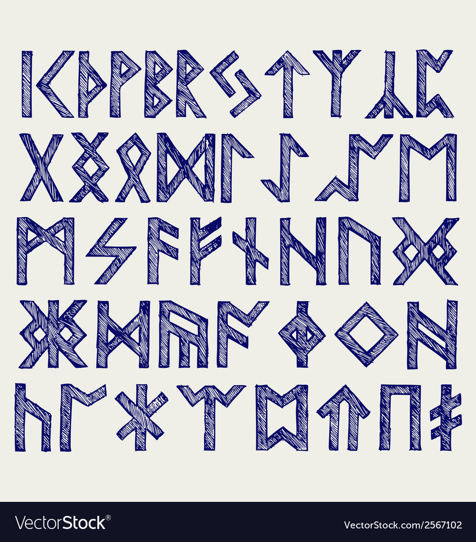 Runic script vector | Price: 1 Credit (USD $1)
