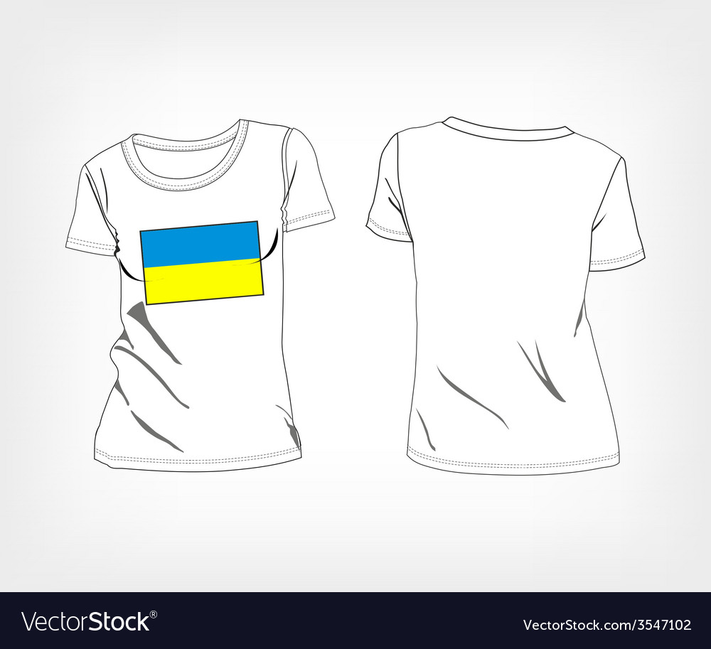 T-shirt with flag of ukraine vector | Price: 1 Credit (USD $1)