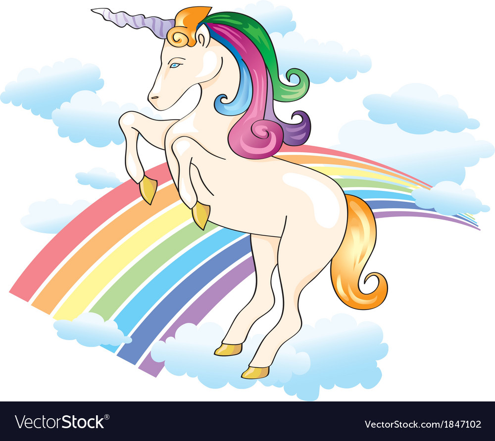 Unicorn rainbow vector | Price: 1 Credit (USD $1)
