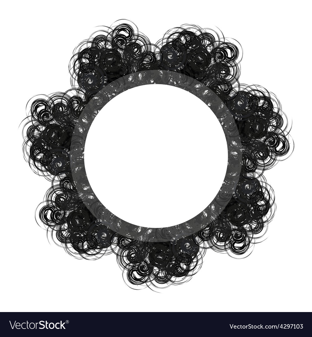 Black lacy round vintage frame with text space vector | Price: 1 Credit (USD $1)