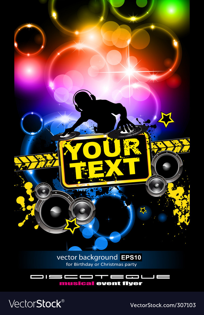 Disco music flyer vector | Price: 1 Credit (USD $1)