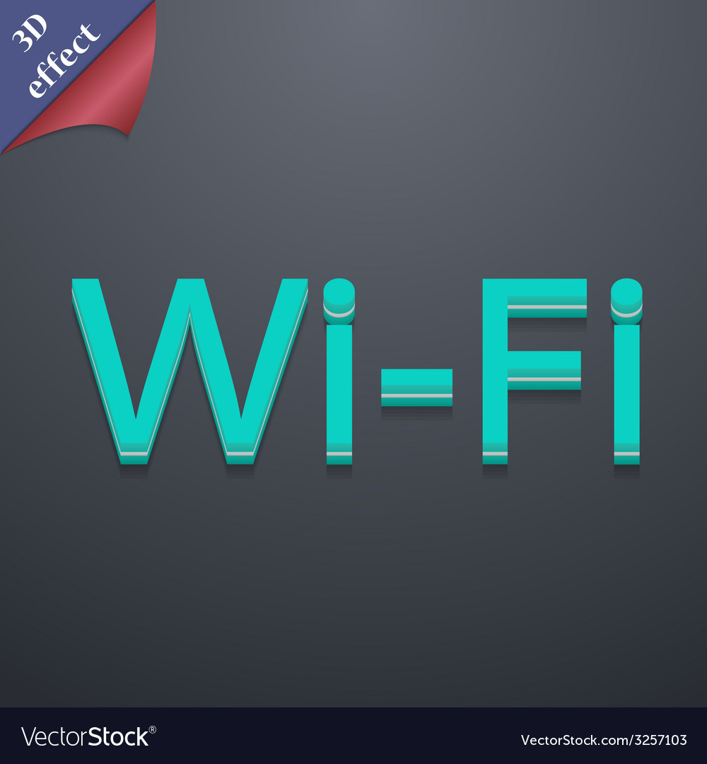 Free wifi icon symbol 3d style trendy modern vector | Price: 1 Credit (USD $1)