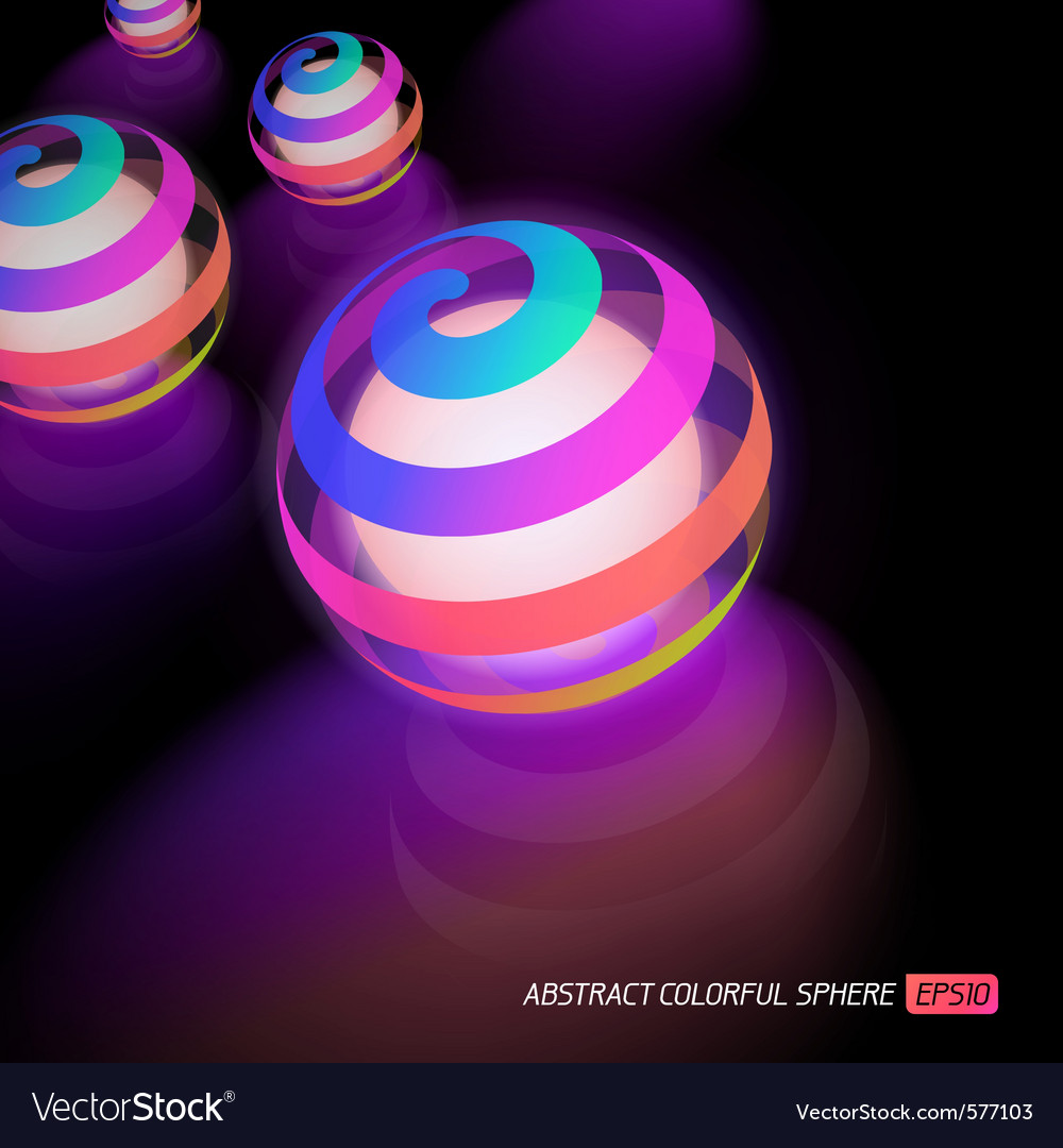 Luminous sphere vector | Price: 1 Credit (USD $1)