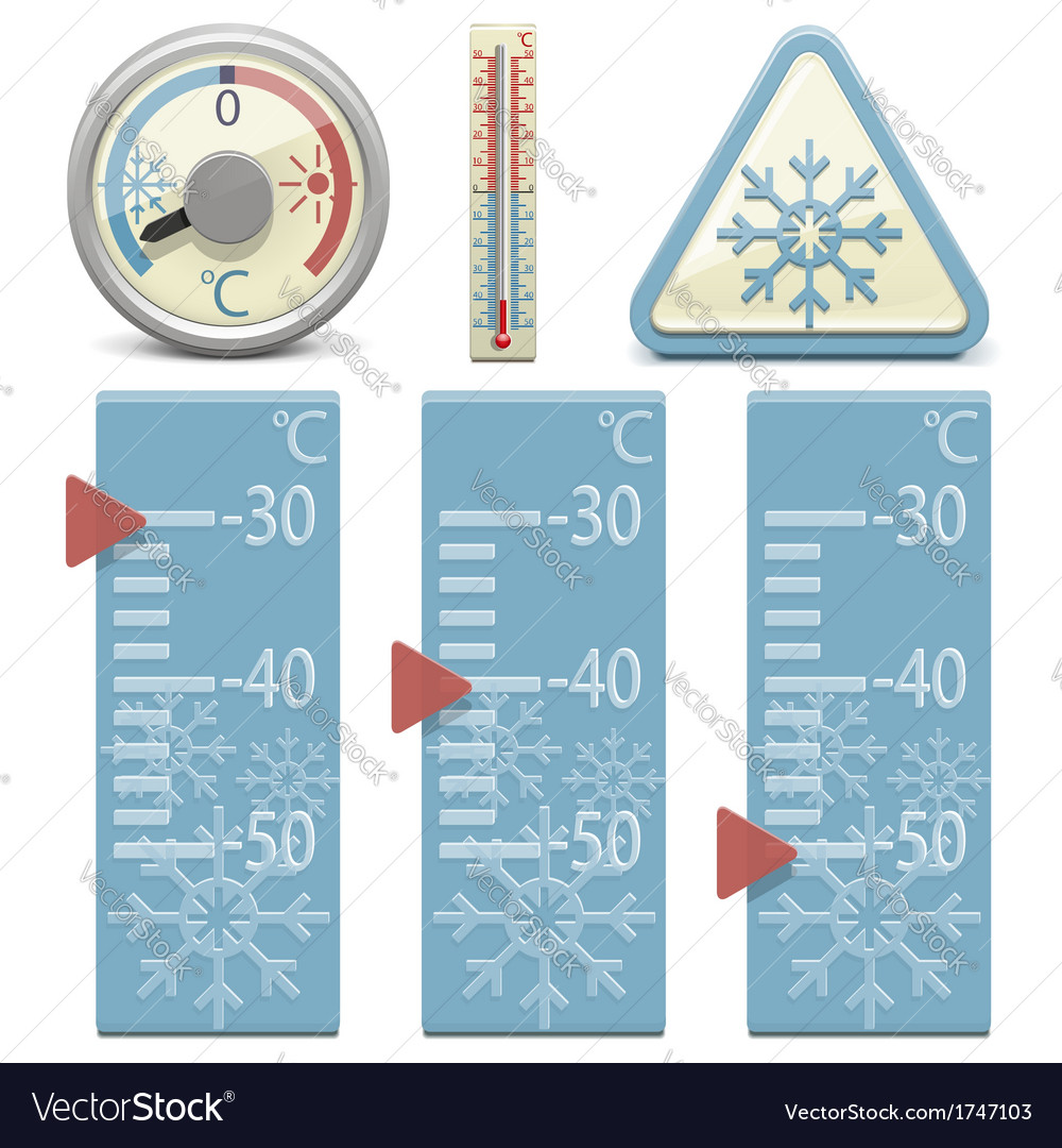Thermometer and snow sign vector | Price: 1 Credit (USD $1)