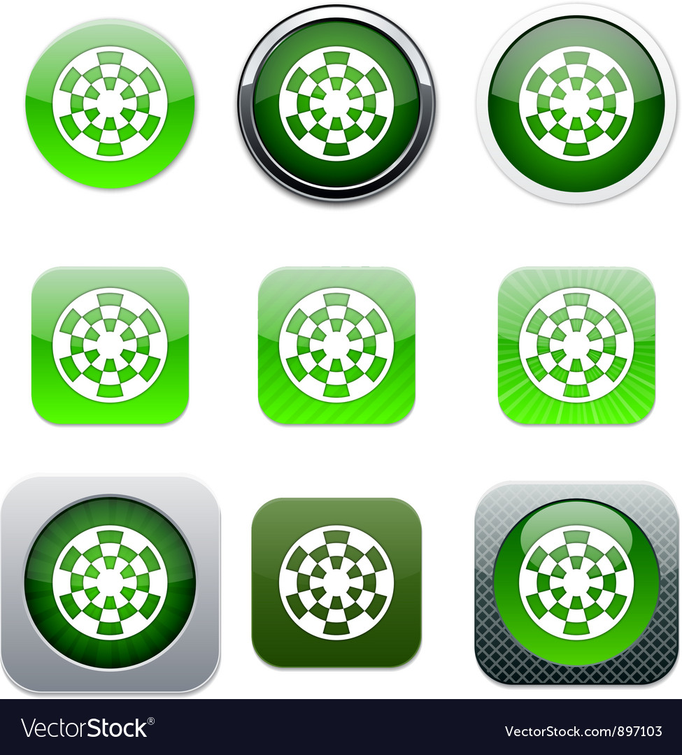 Target green app icons vector   Price: 1 Credit (USD $1)