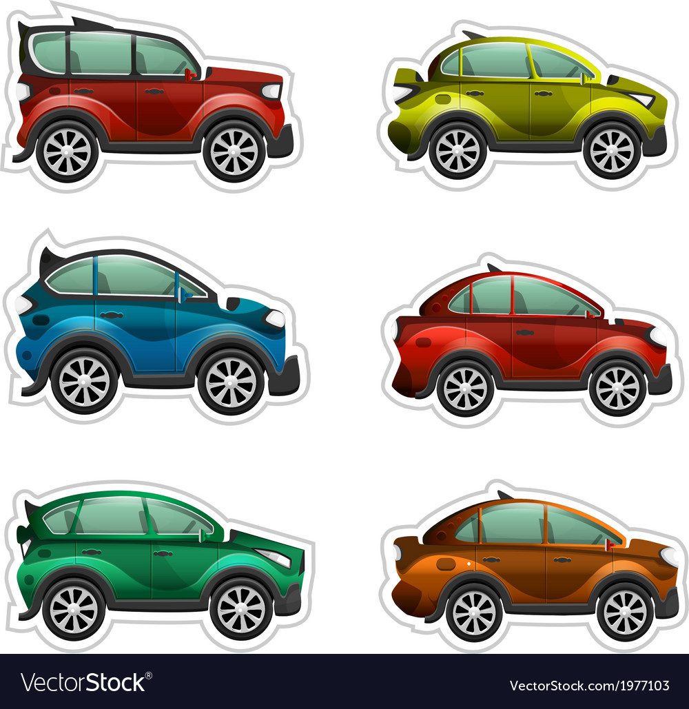 Toy cars stickers vector | Price: 1 Credit (USD $1)