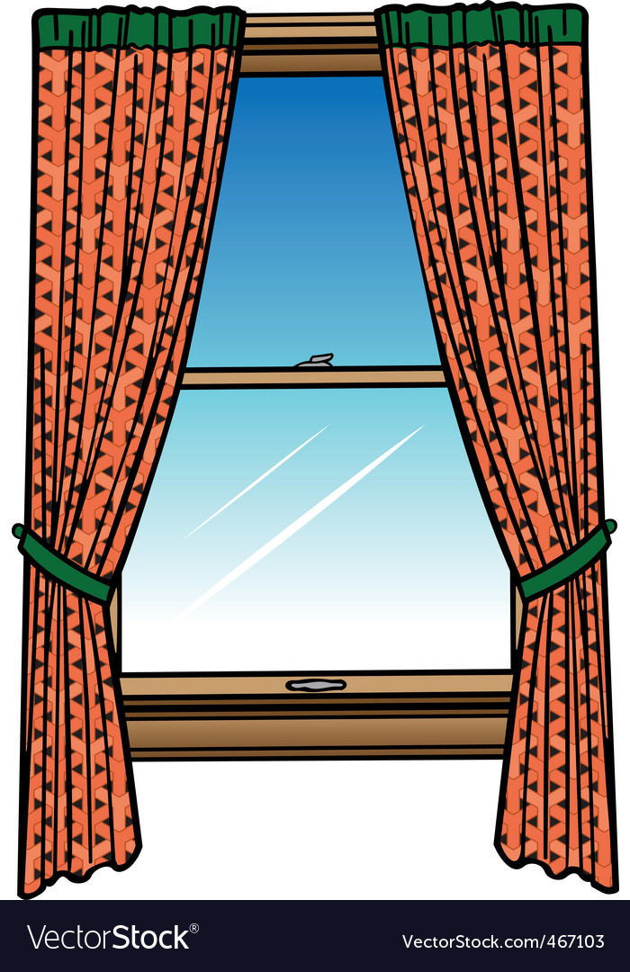 Window  curtains vector | Price: 1 Credit (USD $1)