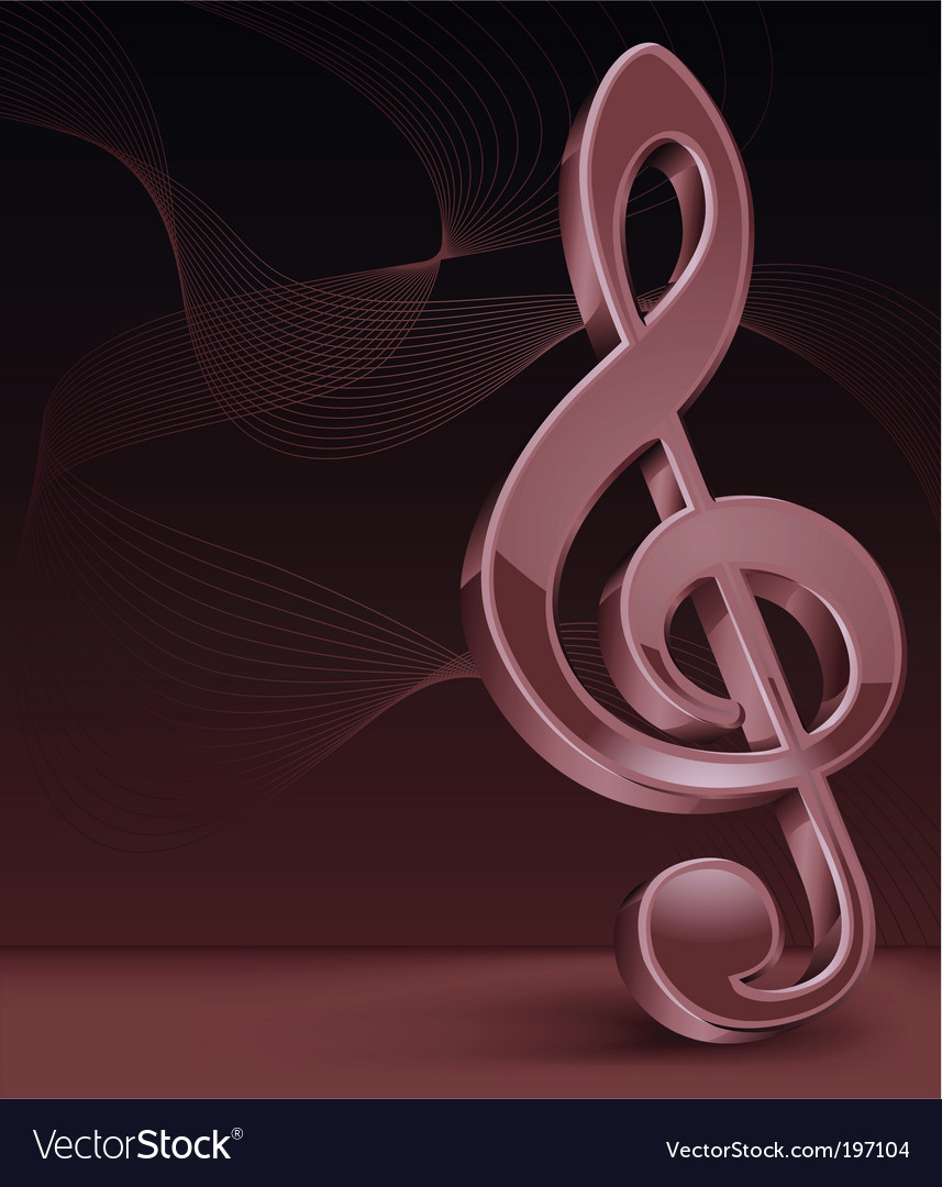 3d treble clef vector | Price: 1 Credit (USD $1)