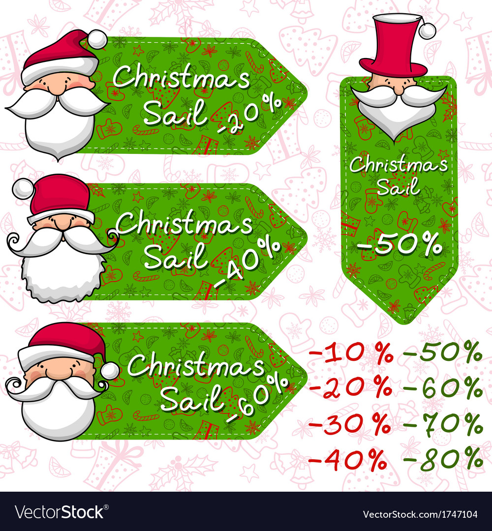 Christmas sale and santa claus vector | Price: 1 Credit (USD $1)