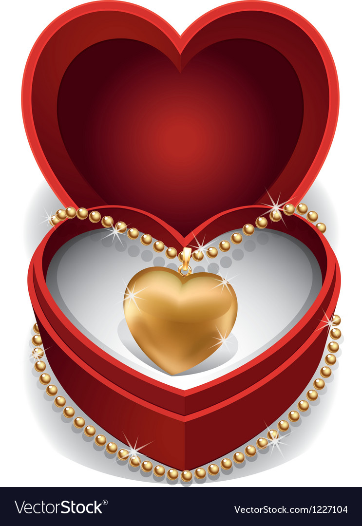 Gold heart necklet vector | Price: 1 Credit (USD $1)