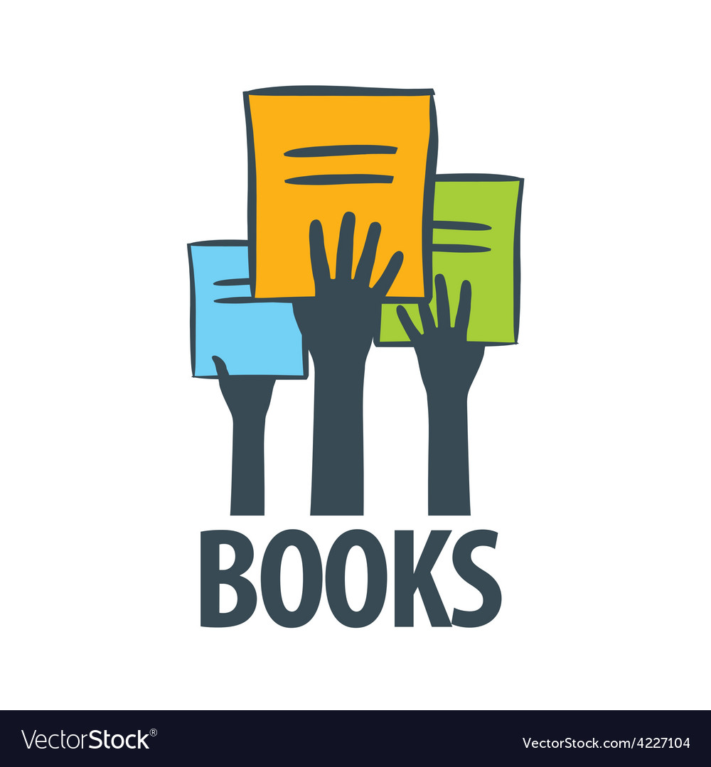 Logo hands holding a books vector | Price: 1 Credit (USD $1)