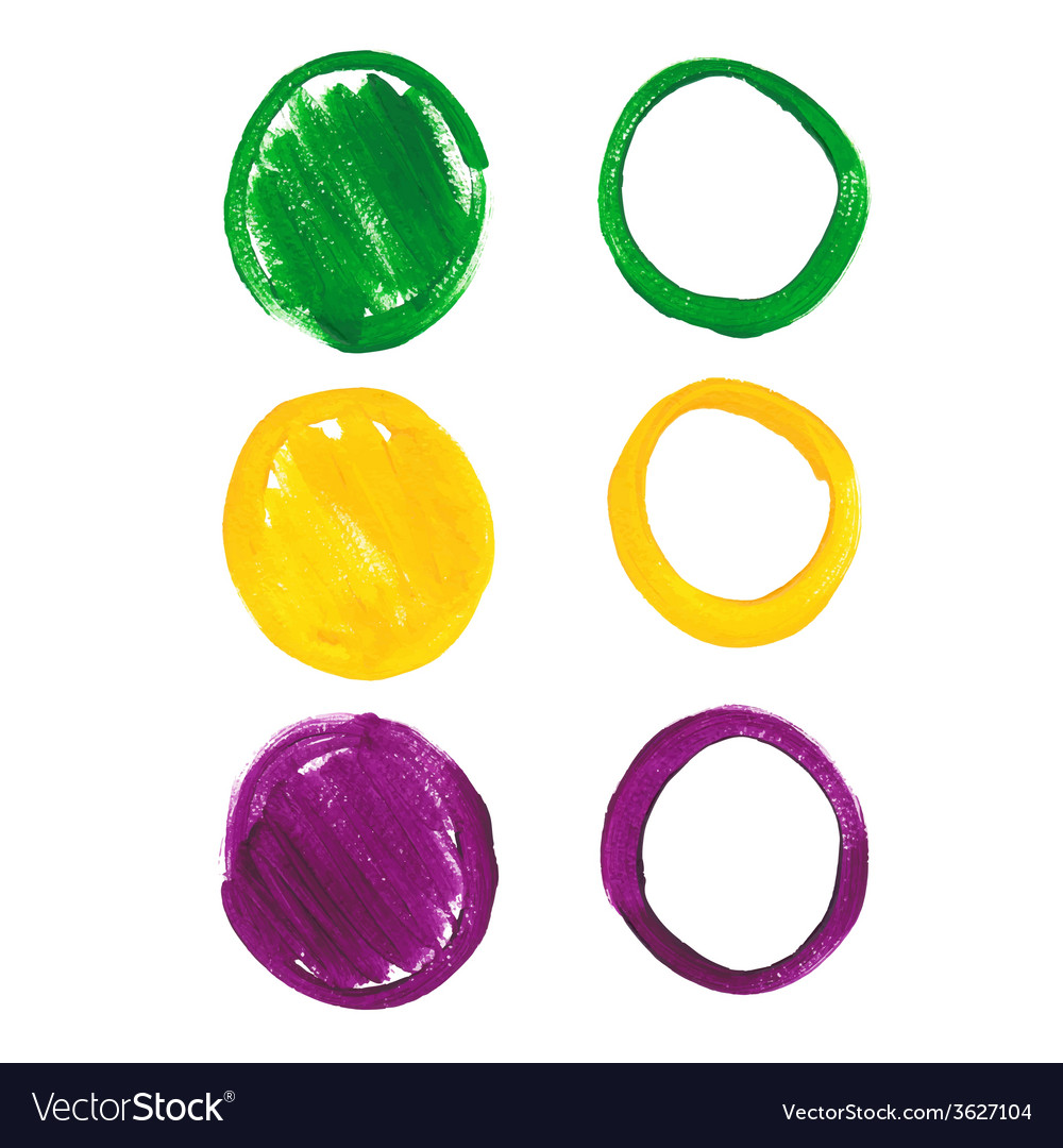 Mardi gras acrylic circles vector | Price: 1 Credit (USD $1)