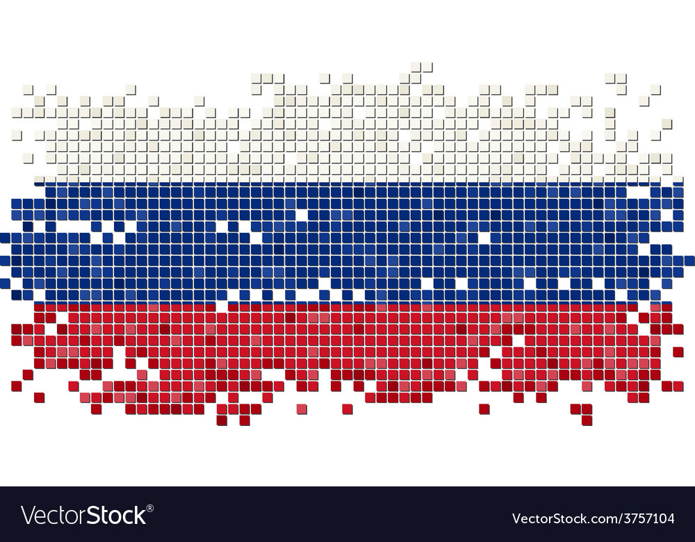 Russian grunge tile flag vector | Price: 1 Credit (USD $1)