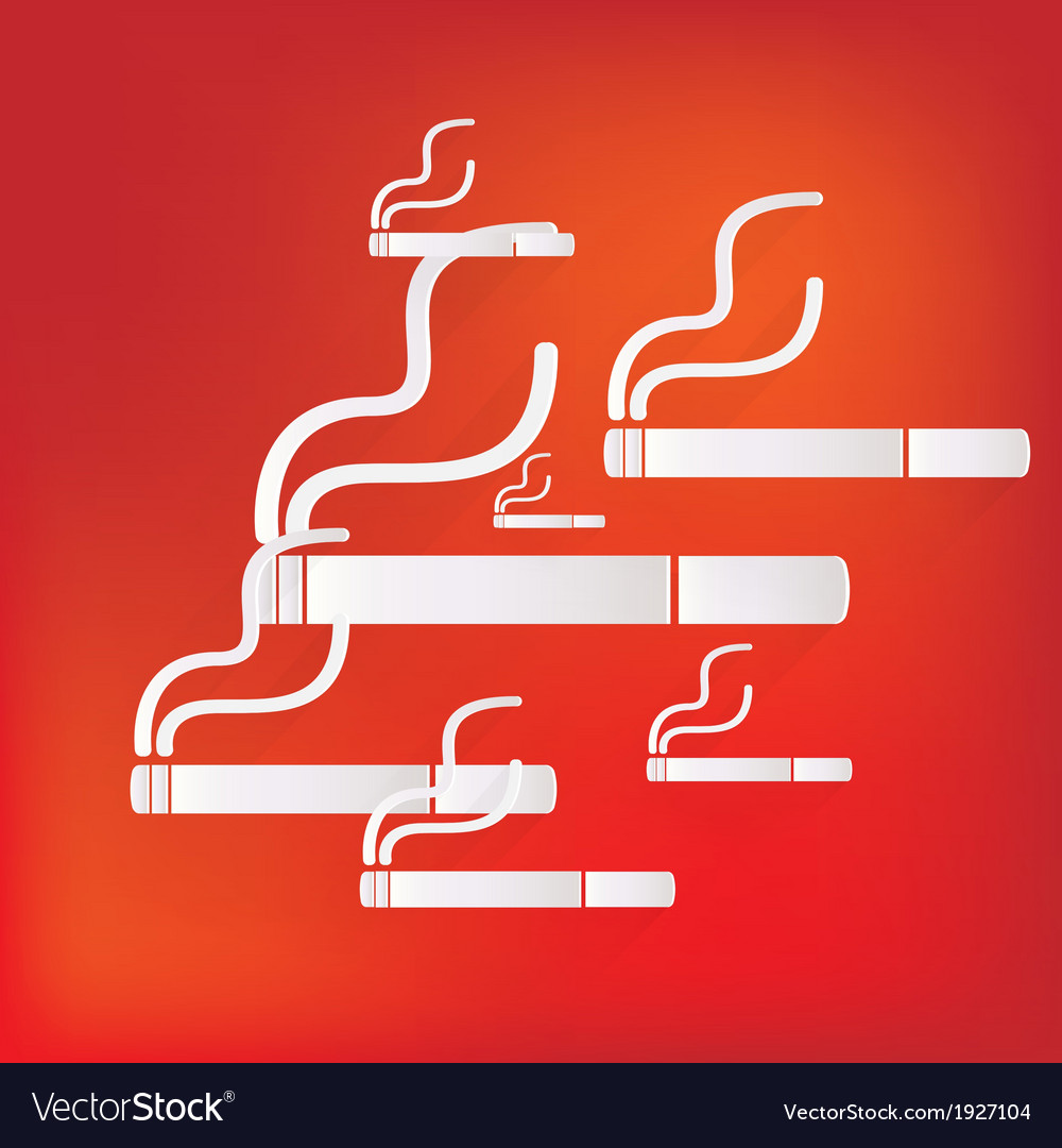 Smoking sign cigarette icon vector | Price: 1 Credit (USD $1)
