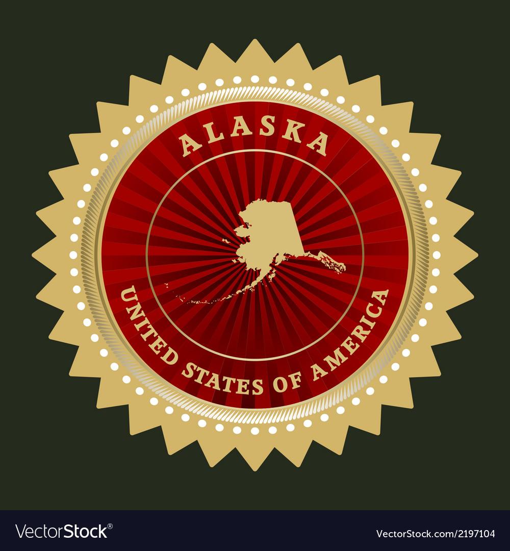 Star label alaska vector | Price: 1 Credit (USD $1)