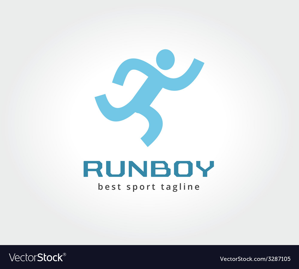 Abstract running people logo icon concept logotype vector   Price: 1 Credit (USD $1)
