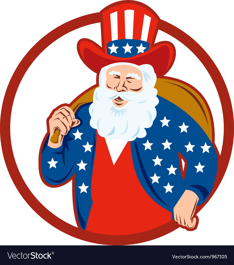 American father christmas santa claus vector | Price: 1 Credit (USD $1)