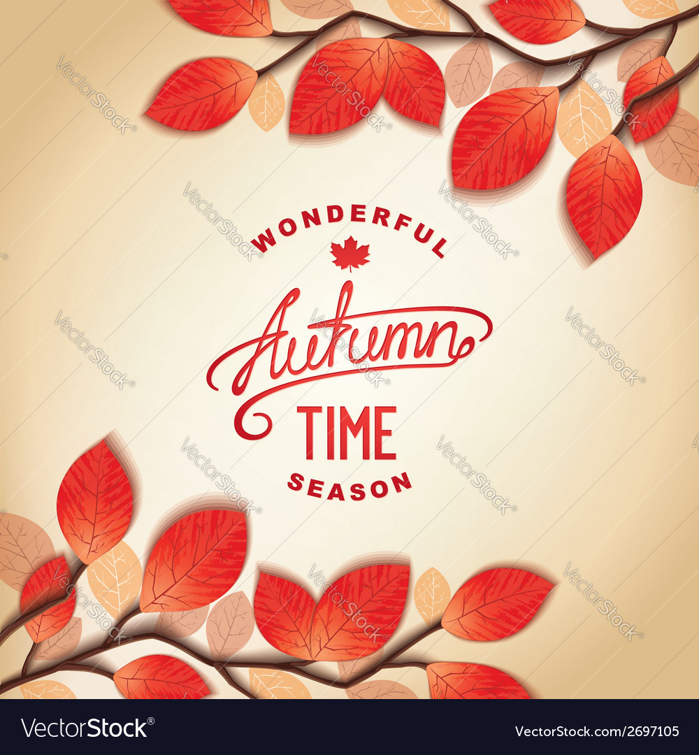 Autumn card design vector | Price: 1 Credit (USD $1)