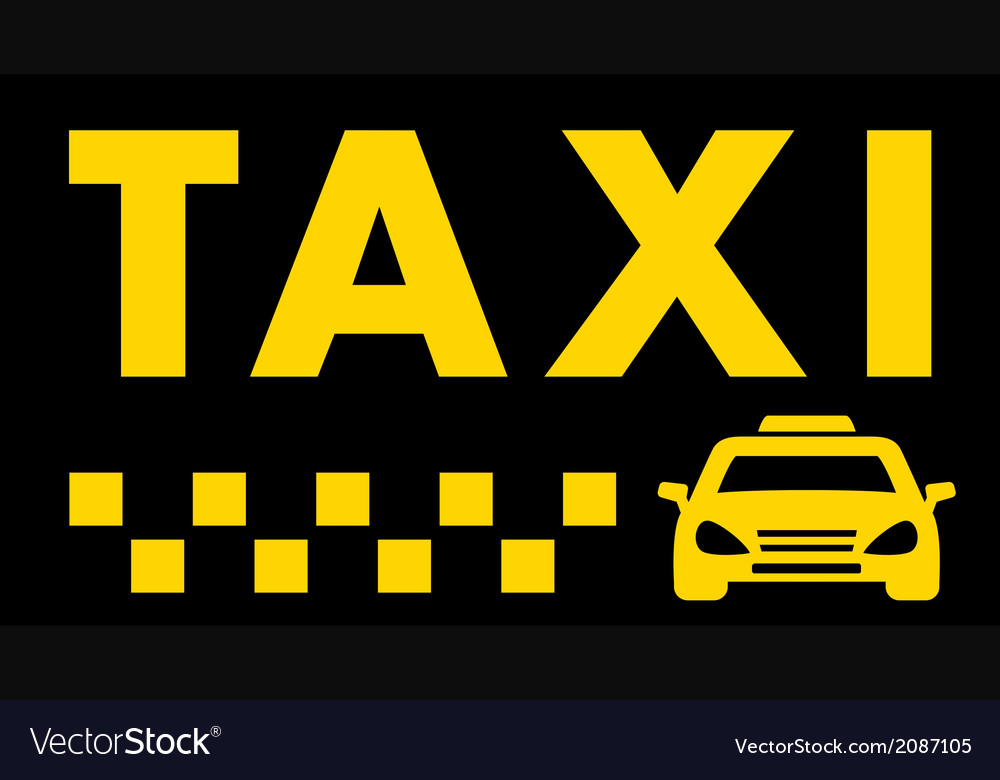 Black taxi background vector | Price: 1 Credit (USD $1)