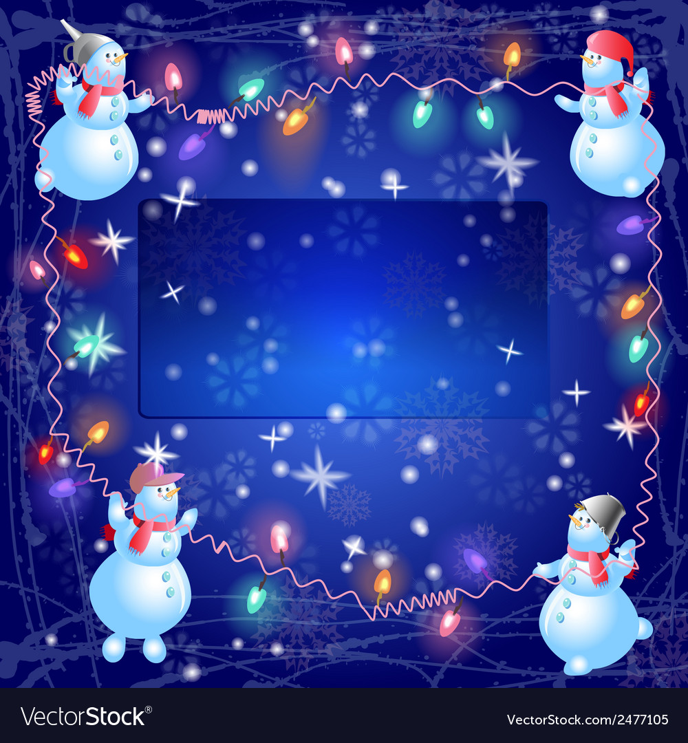 The christmas snowmen hang out the bulb vector | Price: 1 Credit (USD $1)