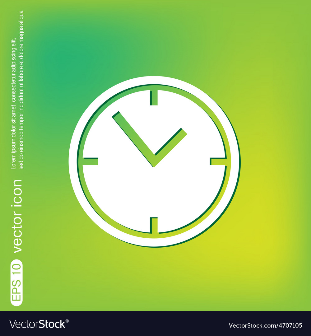 Clock watches icon vector | Price: 1 Credit (USD $1)