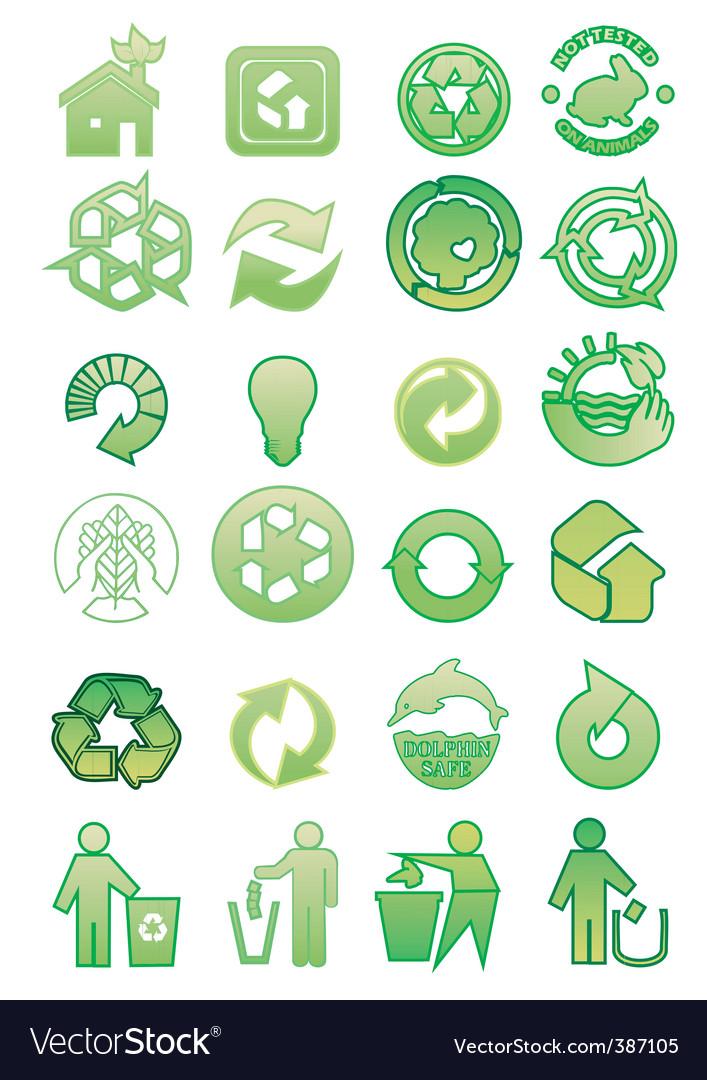 Environmental icons vector | Price: 1 Credit (USD $1)