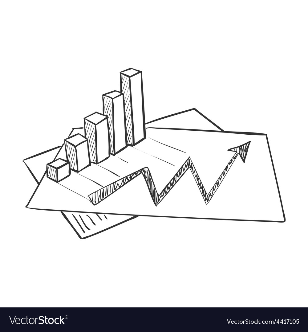 Hand draw doodle business data market vector   Price: 1 Credit (USD $1)