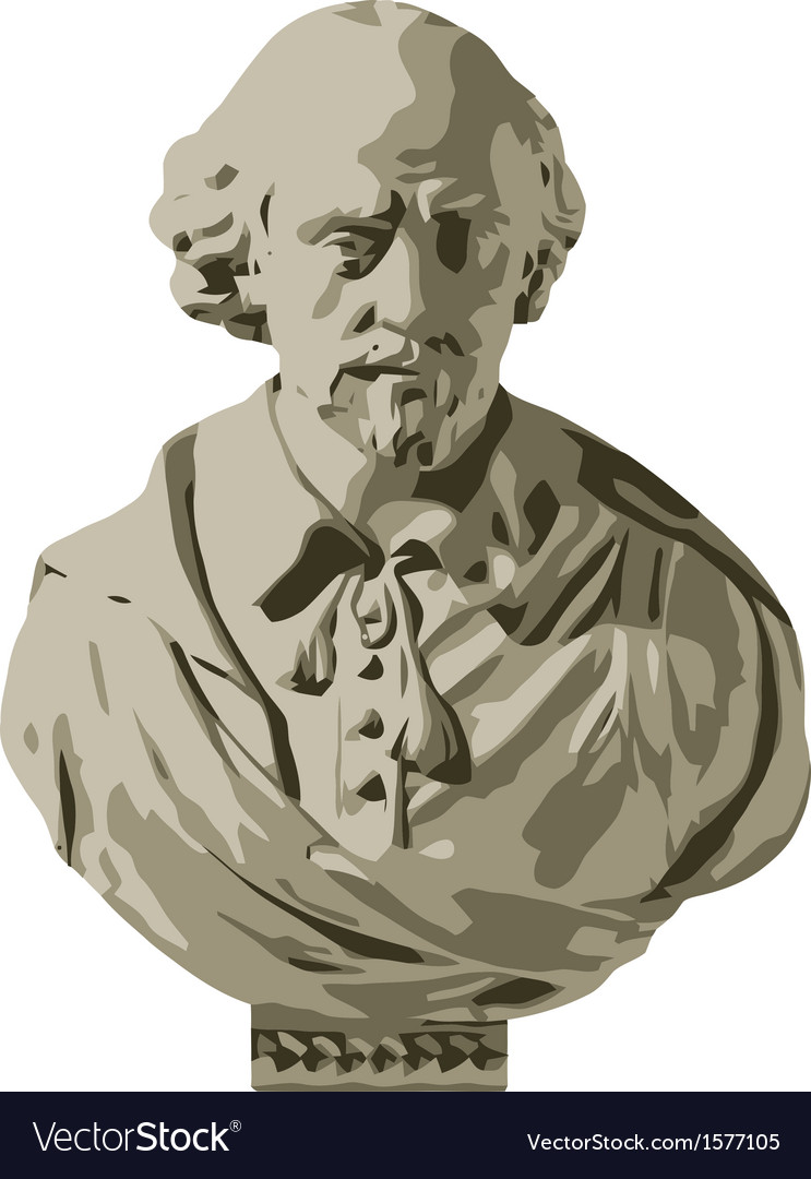William shakespeare bust vector | Price: 1 Credit (USD $1)