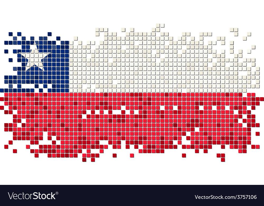 Chilean grunge tile flag vector   Price: 1 Credit (USD $1)
