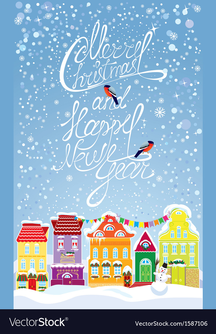 Christmas and new year holidays card vector | Price: 1 Credit (USD $1)