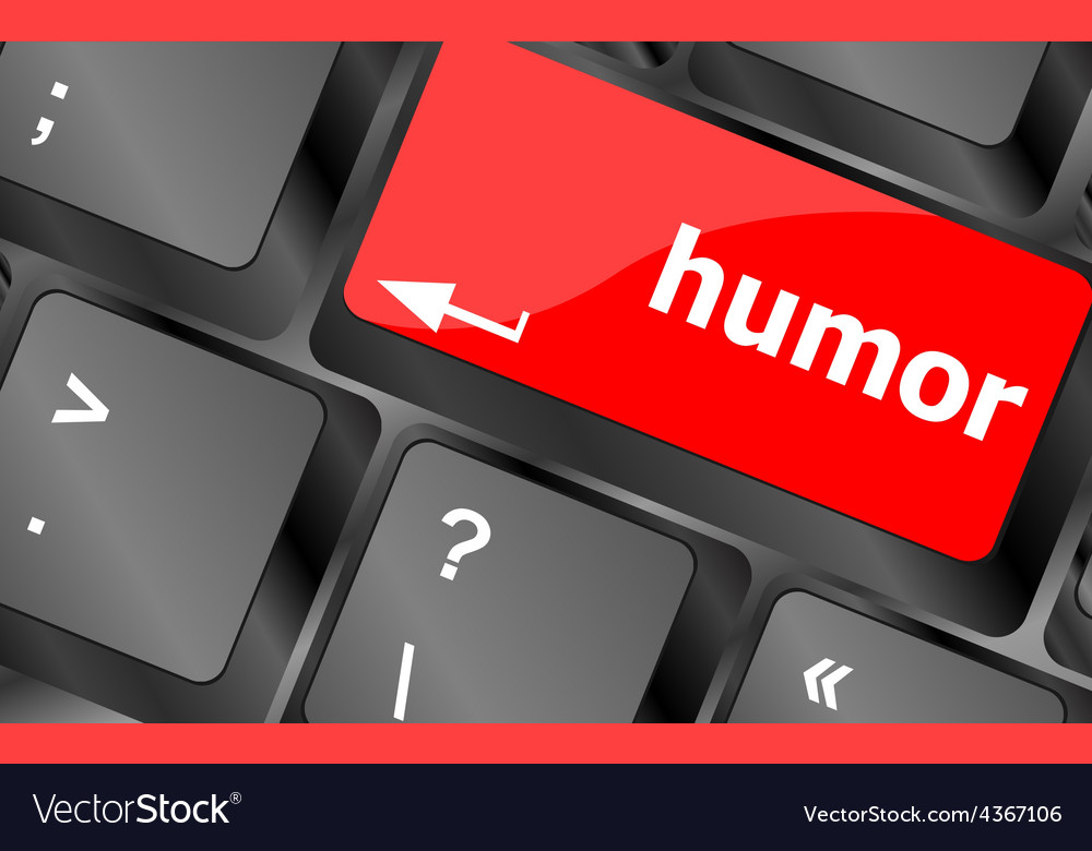 Computer keyboard with humor key - social concept vector | Price: 1 Credit (USD $1)