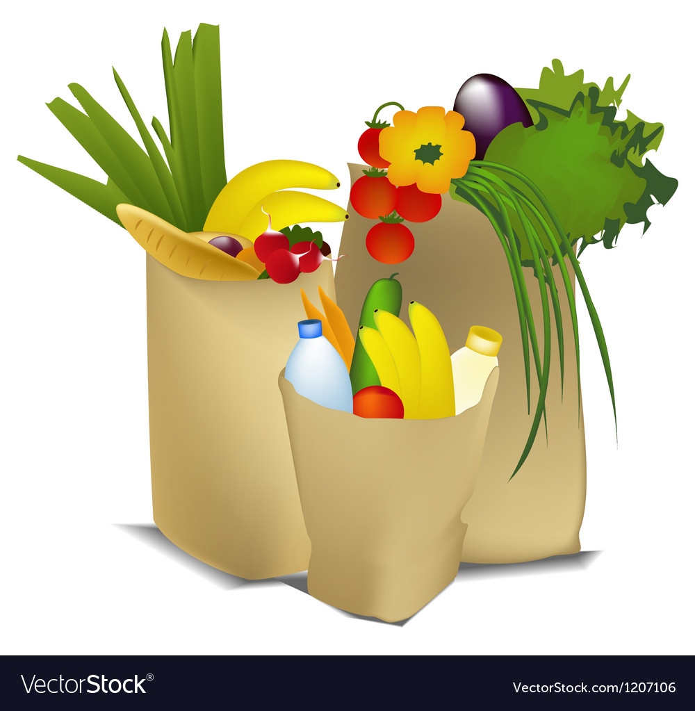 Eco shopping vector | Price: 1 Credit (USD $1)