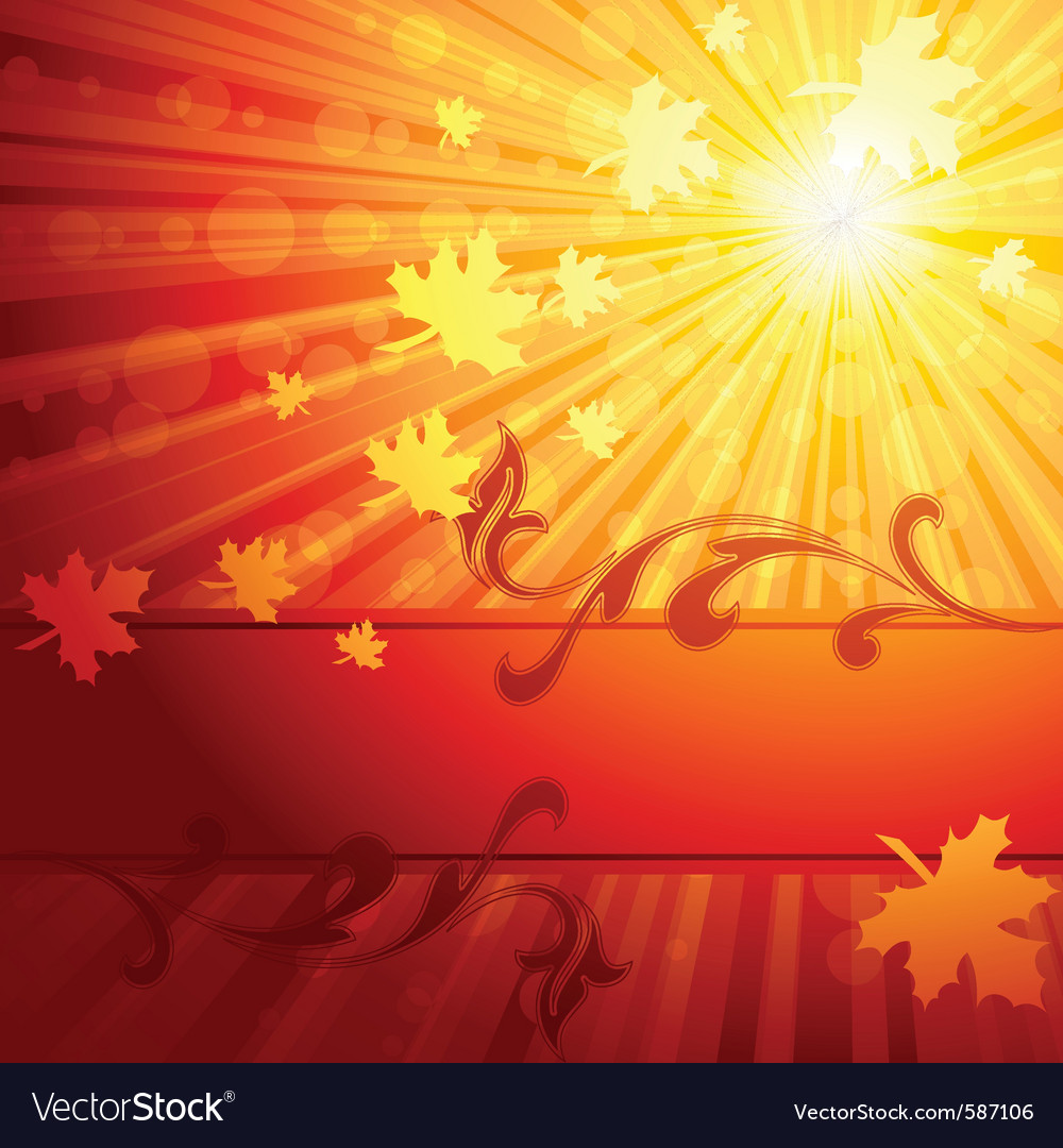 Elegant autumn banner vector | Price: 1 Credit (USD $1)